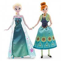 Disney Холодное сердце набор Анна и Эльза из серии Лихорадка Frozen Fever Anna and Elsa Dolls Summer Solstice Gift Set 12''