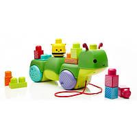 Mega Bloks First Builders Первые строители Конструктор музыкальная гусеница каталка Move 'n Groove Discoveries Caterpillar Building Set CNG22