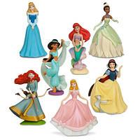 Disney Принцессы Диснея Игровой набор мини-фигурок 7 принцесс Princess Mini-Figure Play Set