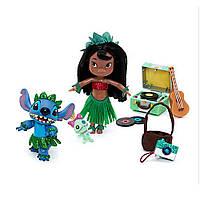 Disney Игровой набор Лило и Стич в чемоданчике Animators' Collection Lilo & Stitch Mini Doll Play Set