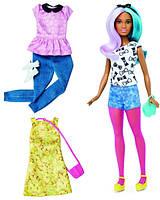 Barbie Барби Модница невысокая с набором одежды Fashionistas Fashions Petite