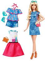 Barbie Барби Модница с набором одежды Лейси в синем Fashionistas Doll & Fashions Lacey Blue