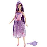Barbie Барби Сказочно-длинные волосы фиолетовая Endless Hair Kingdom Princess Doll, Purple