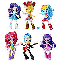 My Little Pony Набор из 6 фигурок серия школьный танцы  Equestria Girls Minis School Dance Collection
