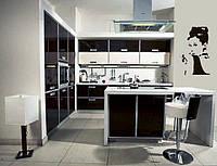 Кухня с фасадами акрилюкс.