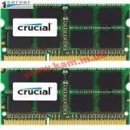 8GB (Kit 2x4Gb) DDR3L 1600MHz Crucial® PC • SODIMM CL=11 • Dual Volt.1.35/ 1.5V (CT2KIT51264BF160BJ)