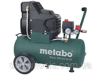Безмасляний компресор Metabo Basic 250-24 W OF