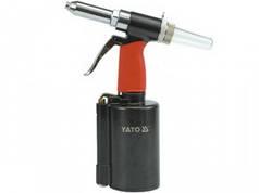 YATO Пневмозаклепочник  для заклепок Ø= 2,4; 3,2; 4,0; 4,8; 6,4 мм, l= 16 мм, F= 1390 кг