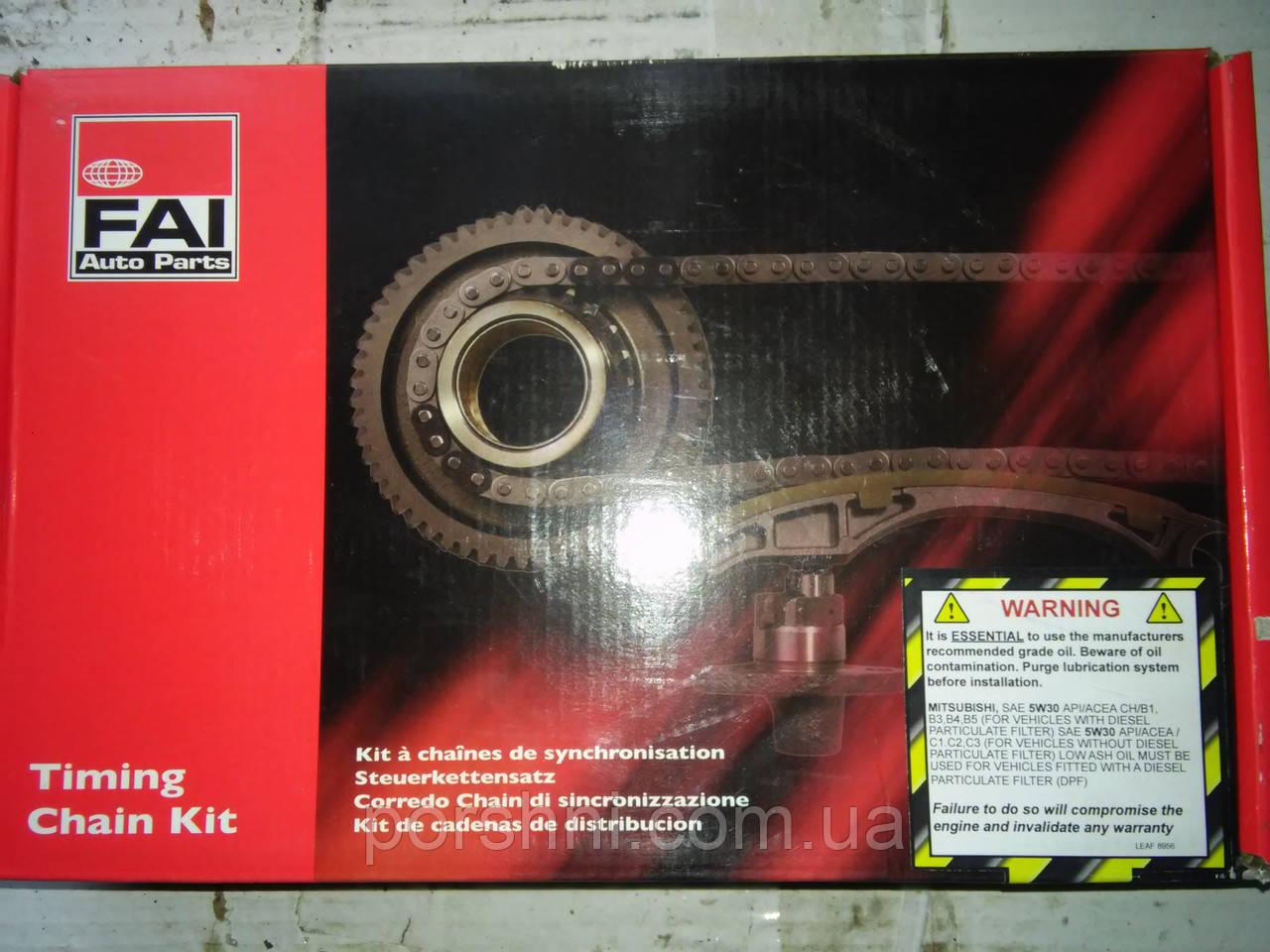 Цепь  двигателя + успокоит + натяж Тransit 2.4 DI  V347  2006 >  FAI   TCK138WO