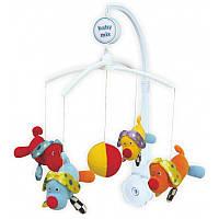 Музыкальный механический мобиль с мягкими игрушками Baby Mix,  Щенки