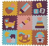 Детский игровой коврик - пазл «Интересные игрушки»