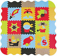 Детский игровой коврик-пазл Приключения пиратов с бортиком 2