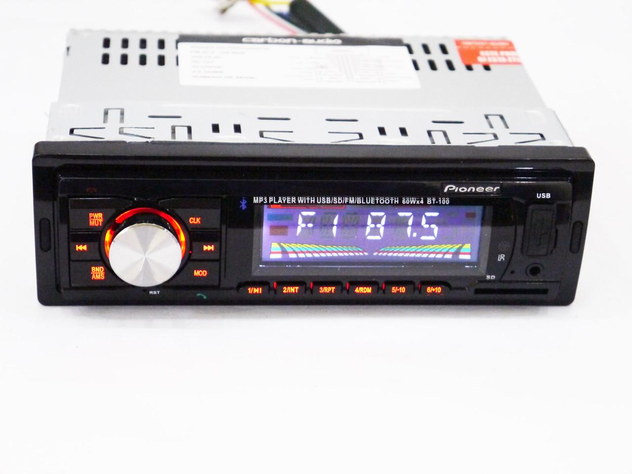 Автомагнитола Pioneer BT-100 -  Bluetooth+MP3 Player+FM+USB+SD+AUX