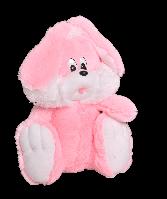 Плюшевая игрушка Зайчик сидячий  35 см, Розовый