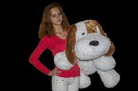 Плюшевая игрушка Собачка Шарик 75 см, Белый