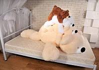 Большая мягкая игрушка медведь Умка  180 см, Персиковый
