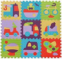 Детский игровой коврик-пазл Быстрый транспорт