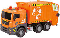 Машинка Dickie Toys Мусоровоз с воздушной помпой и контейнером, 55 см (380 9000)
