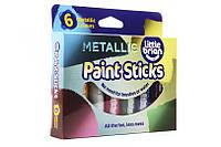 Фломастеры-краски металлик (6 цветов) Brian Clegg.  (LBPS10MA6)