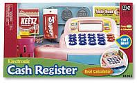 Кассовый аппарат (розовый), игровой набор Супермаркет, KEENWAY