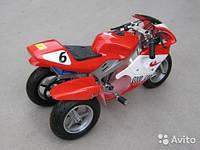 Детский спортивный мотоцикл  бензиновый HL-G69E (49сс)Трайк красный***