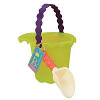 Набор для игры с песком и водой, Ведерце с лопаткой (лайм) Battat