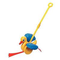 Игрушка-каталка веселый утенок Quercetti