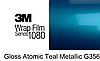 Синяя глянцевая пленка 3M 1080 Atomic Teal