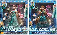 Кукла Холодное сердце/Frozen Magic World Snow: 2 вида, шарнирная, свет + звук
