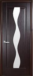Модель Волна стекло сатин межкомнатные двери, Николаев