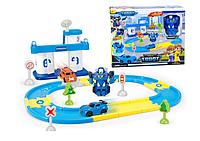 Трек+полицейский участок+робот-трансформер Tobot XZ-388