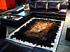 Кожаные ковры из шкур коров. Ковры patchwork (печворк)
