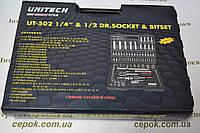Набір ключів Unitech 108 pcs, торцевих головок і біт