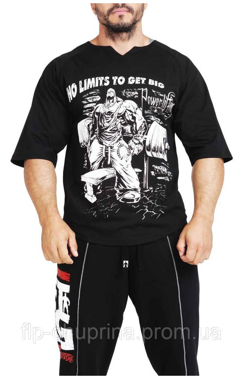 Мужская футболка черная, фото 1