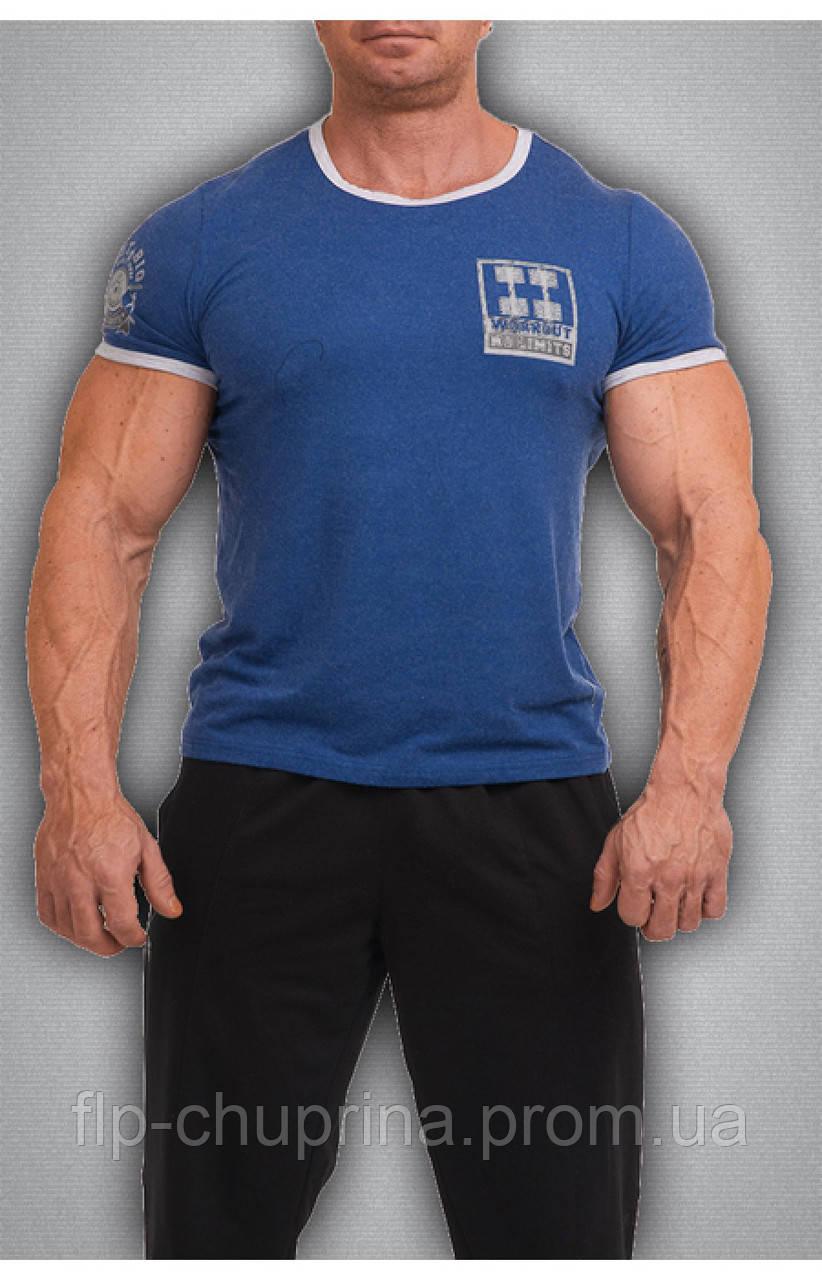 Мужская футболка синяя