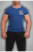 Мужская футболка синяя, фото 1