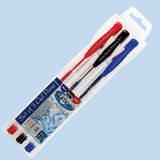 Набор ручек гелевых PLASMA 3 цвета (черная,синяя,красная)