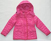Куртка стеганная 2-3-4-5-6-7-8 лет Сердце