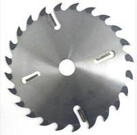 Диск пильный по дереву с твердосплавными напайками и подрезными ножами 350х24z(+4)