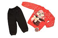 Детский спортивный костюм Зайка 74/80 см розовый Турция
