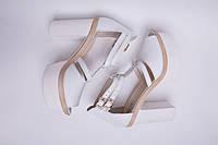 Босоножки №390-1 белые, фото 1