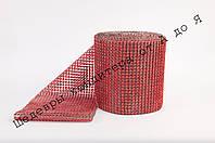 Лента декоративная Красная 6см
