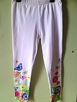 Детские лосины для девочки белые 5519 Венгрия