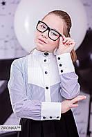 "Блузка школьная для девочки ""Зіронька ТМ""  Украина (3500-3)"