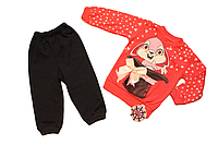 Детский спортивный костюм Зайка 86/92 см розовый Турция