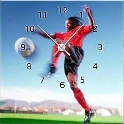 """Картина-часы (45х45 см) """"Футбол. Рональдиньо"""""""