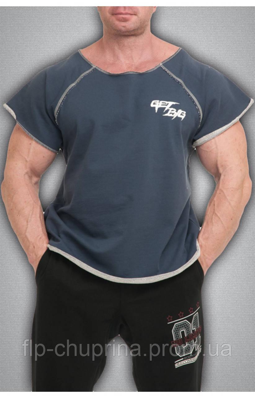 Мужская футболка джинсового цвета