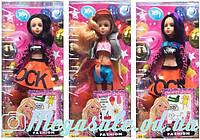 """Кукла барби """"Тату"""" шарнирная, 3 вида: татуировки + расческа в комплекте"""