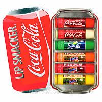 Бальзамы для губ Lip Smacker Coca Cola набор 6 шт в подарочной упаковке, фото 1