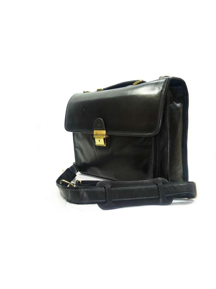Портфель кожаный мужской чёрный katana 34204